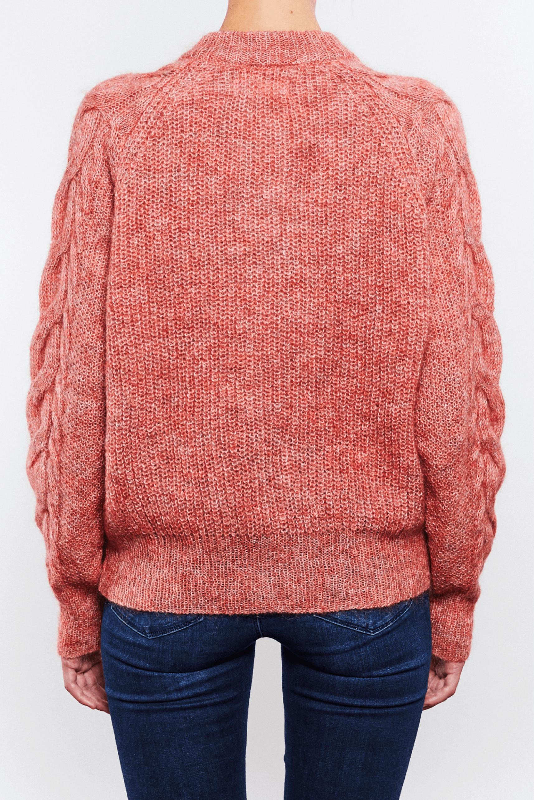 Rachel strikket cardigan fra Kupong knit.wear Korall